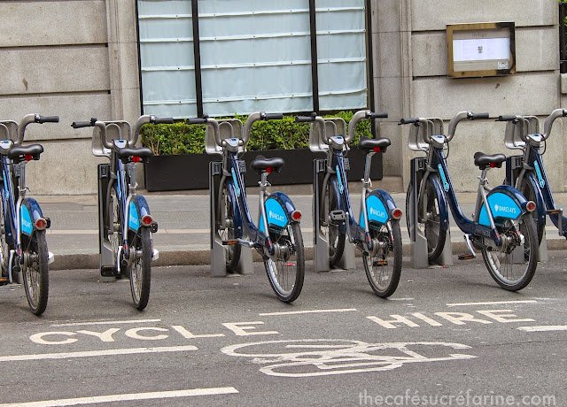 Everyday London Barclay (now Santander) rental bikes in their pay-to-ride street stalls.