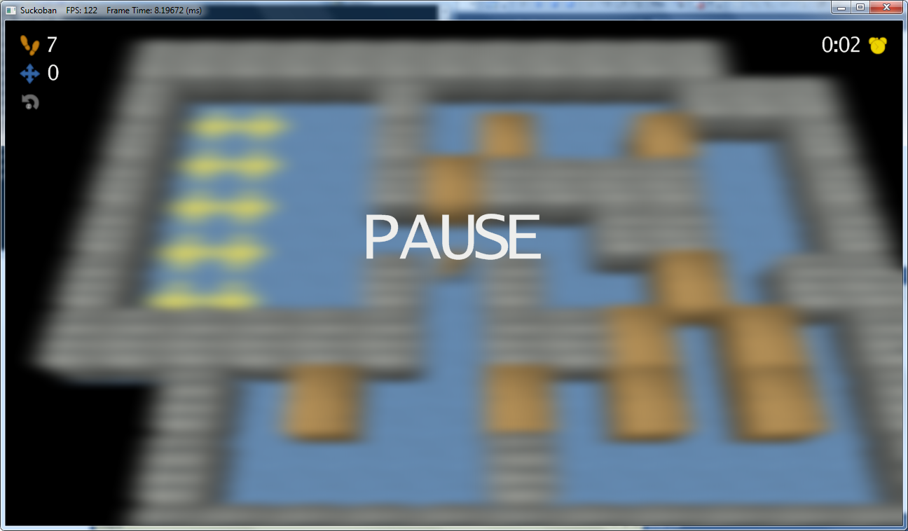 Gaussian pause menu