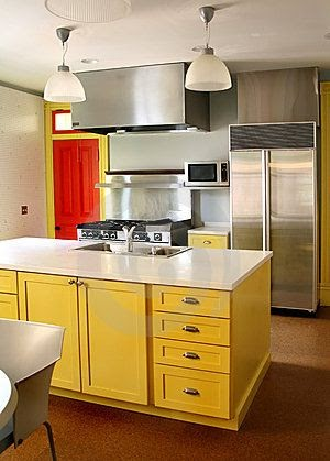 photos of yellow kitchen cabinets simple house design