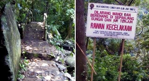 jalan menuju air terjun coban baung purwodadi pasuruan