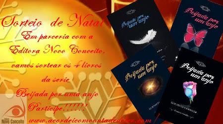 Sorteio de Natal - Eu quero os 4 livros da Serie Beijada por um anjo