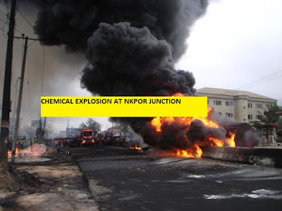 NKPOR JUNCTION FIRE OUTBREAK
