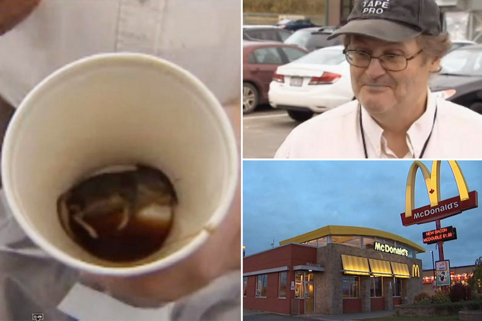 Man 'Finds' Dead Mouse In His McDonald's Coffee