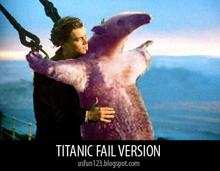 Titanic funny pictures with bear