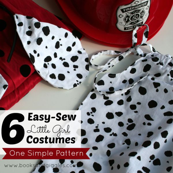 6 easy to sew homemade costumes for little girls. One pattern makes 6 different animals. Great for sibling costumes.