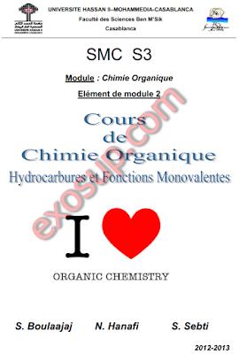 cours hydrocarbures et fonctions monovalentes