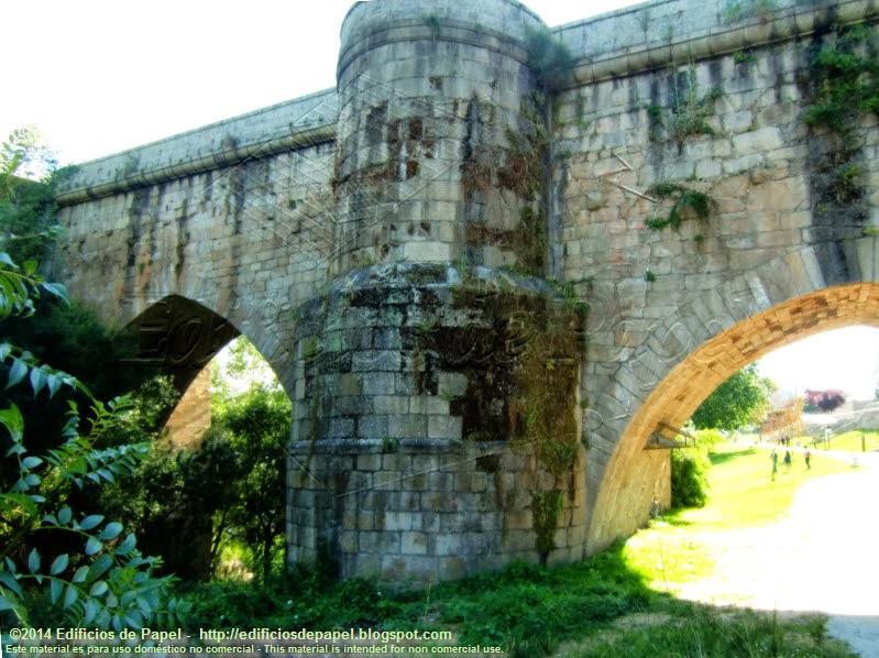 Puente Romano de Ourense, paso por el paseo fluvial