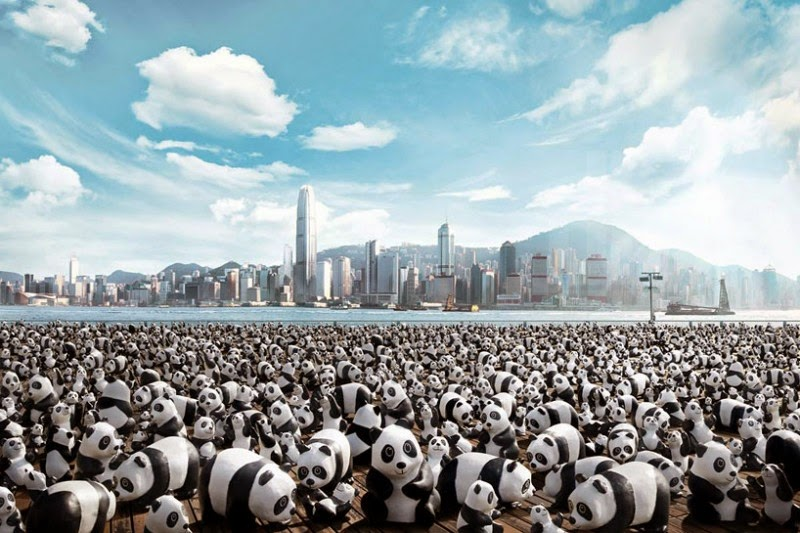 1,600 pandas by artist Paulo Grangeon