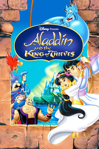 Poster Of Aladdin and the King of Thieves 1996 In Hindi Dual Audio Bluray 720P Free Download