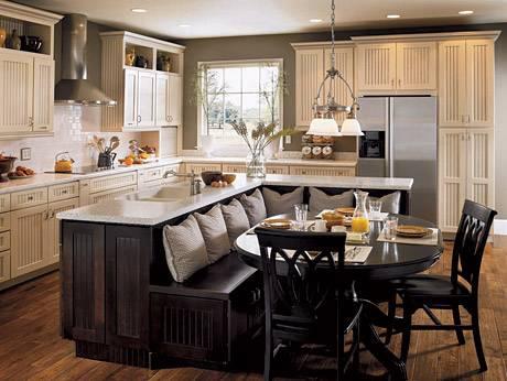 Stylish Black Kitchen Banquette Furniture Ideas