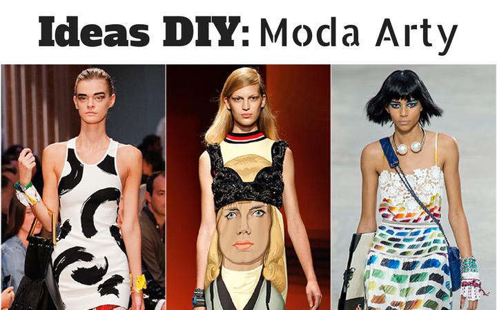 Ideas e inspiración DIY sobre la tendencia y moda ARTY para hacer nosotras mismas y plasmar nuestra expresión en nuestra ropa o complemento.
