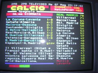 Teletexto italiano - Calcio