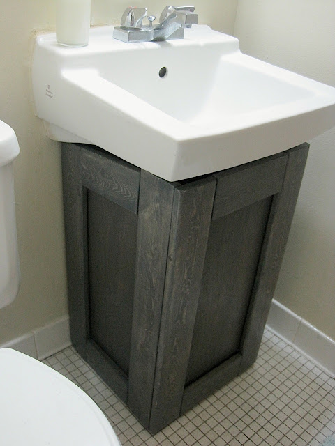 The Project Lady Faux Sink Cabinet