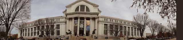 Panorama view of National History Museum in Washington DC, USA