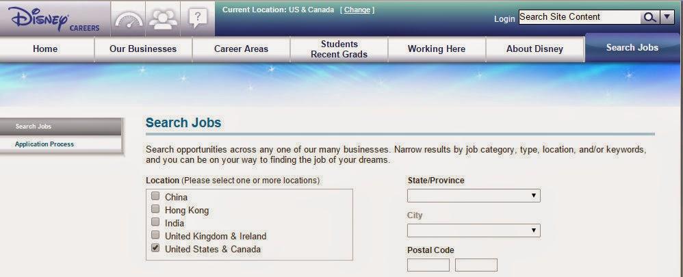 Browsed Job Listings On The Disney Careers Website.