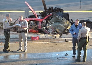 Paul Walker, Pelakon Fast & Furious Meninggal Dunia, gambar kemalangan paul walker