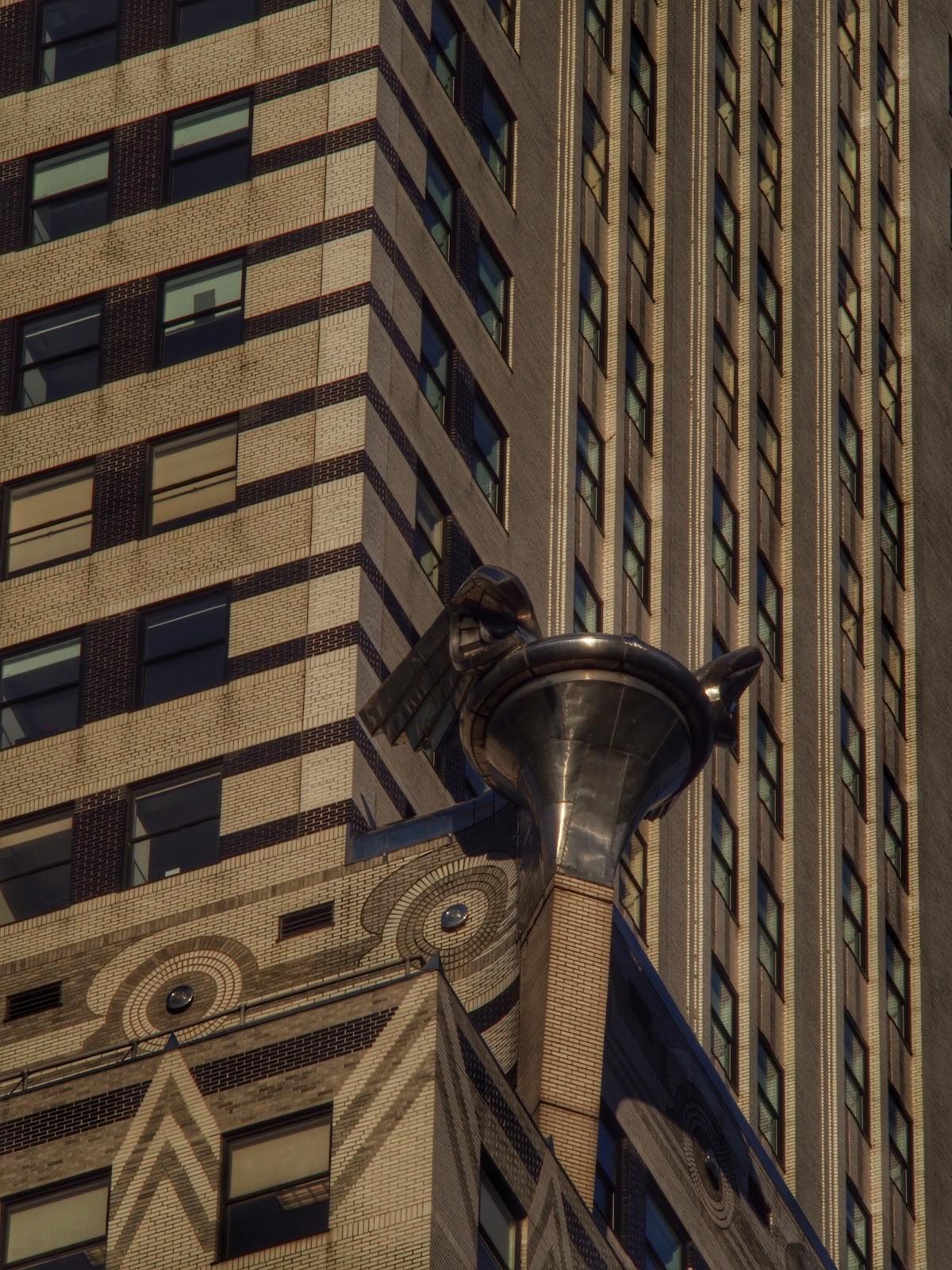 Decorative Elements on High, #ChryslerBuilding #AlwaysLookUp #artdeco #architecture #NYC 2014