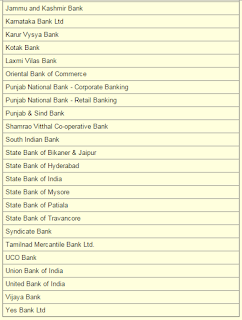 Step 4: Online PAN Card Correction bank list1