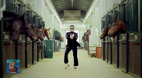 Psy on horse- dance moves