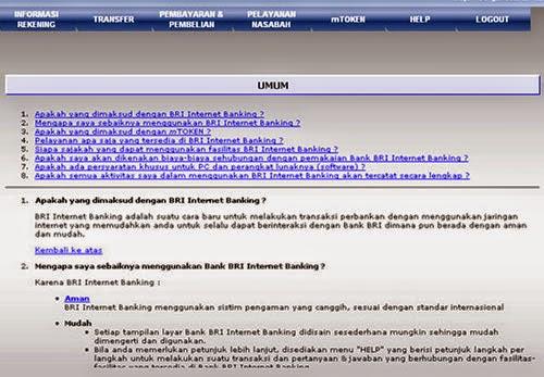 Demo BRI Internet Banking