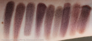Kaska Beige, Euphoria, Day to Night, Sketch, Euphoria, Inglot 423, Private Affair, Encore, Black Ruby