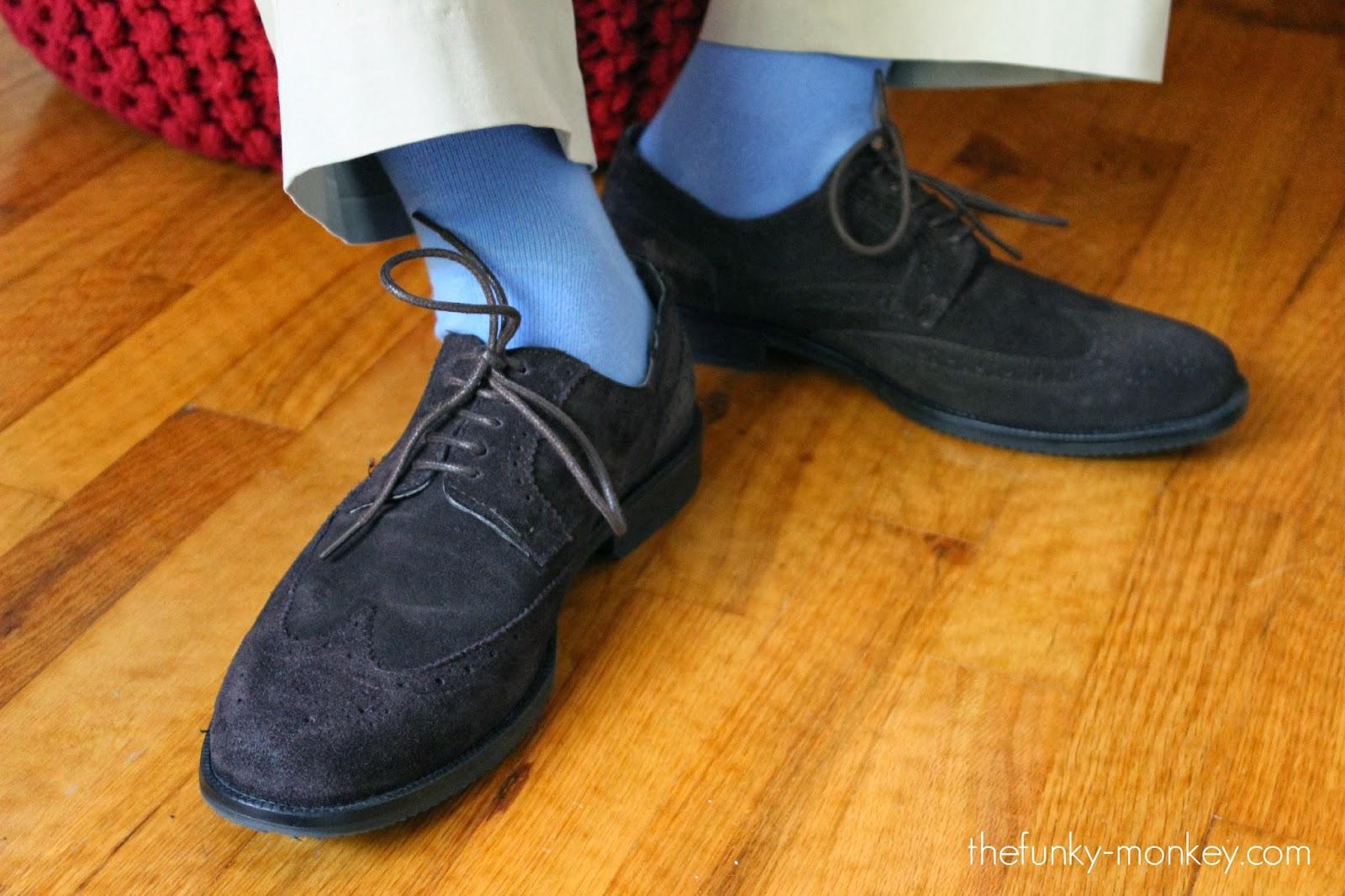 Baby blue dress socks