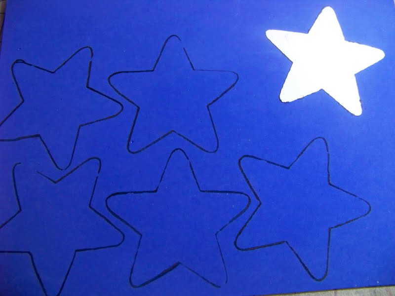 Star Shape Template To Cut Out Drawing the shape on the