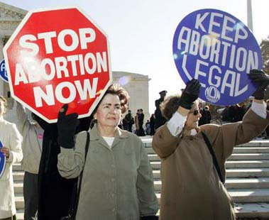 "an argument in favor of abortion in america Pro-choice"" and ""pro-life"" americans tend to back abortions needed to protect  women's vital health and to support certain notification policies,."