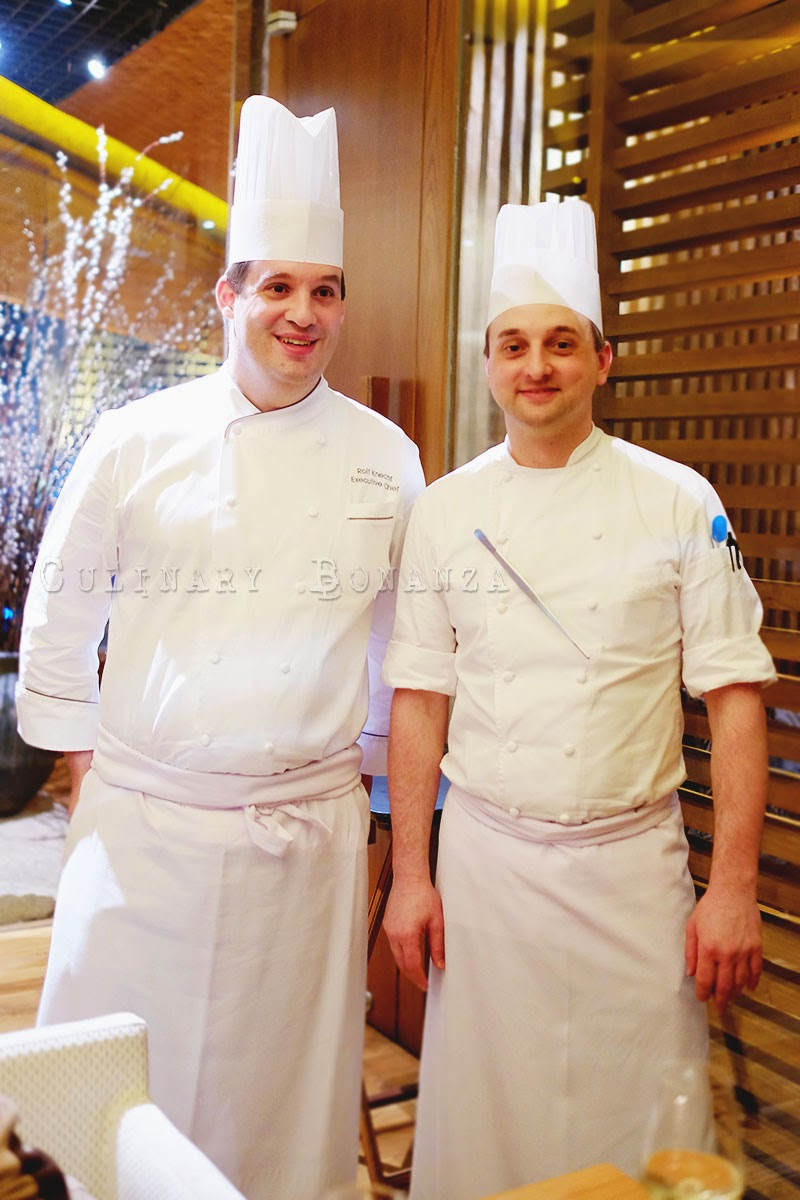 Left: Executive Chef Rolf Knecht | Right: Chef de Cuisine Matt Demery of Grand Hyatt Jakarta (2014)