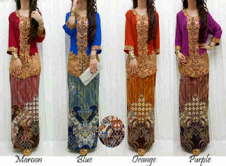 Indonesia Kebaya Renda Emas fit to L