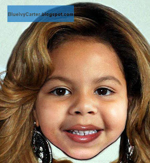 Cartoon Pic of Beyonce baby Blue Ivy
