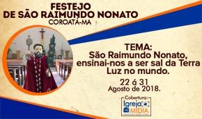 Programação do Festejo de São Raimundo Nonato