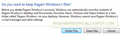 Delete Files user account