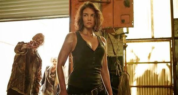 Maggie contra los zombis en The Walking Dead 5x02