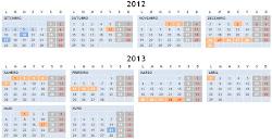 Calendario escolar 2012/13
