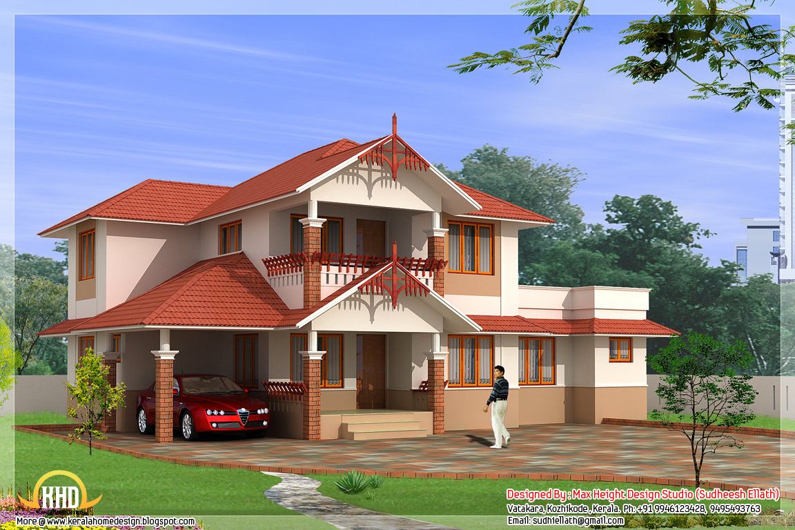 3 awesome indian home elevations kerala home design for Beautiful house video