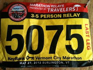 vermont city marathon bib