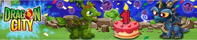 imagen del primer aniversario de dragon city