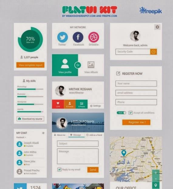 Flat UI Kit (free download!)
