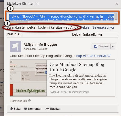 screen-facebook in blogger