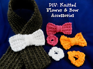 DIY Knitted Flower & Bow Accessories