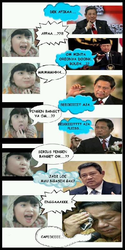 Gambar Foto Komik Lucu Afika Oreo VS Presiden SBY