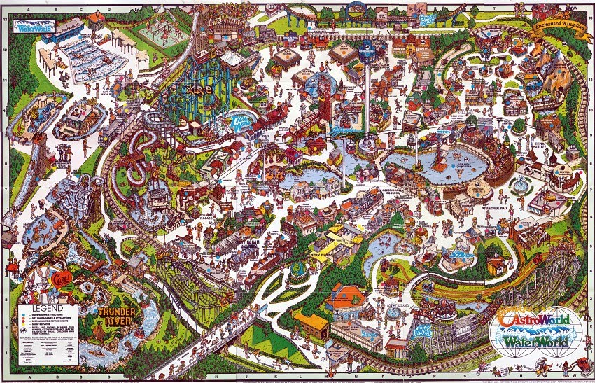 The crazy world of honey bunny six flags astroworld park maps six flags astroworld park map 1988 gumiabroncs Choice Image