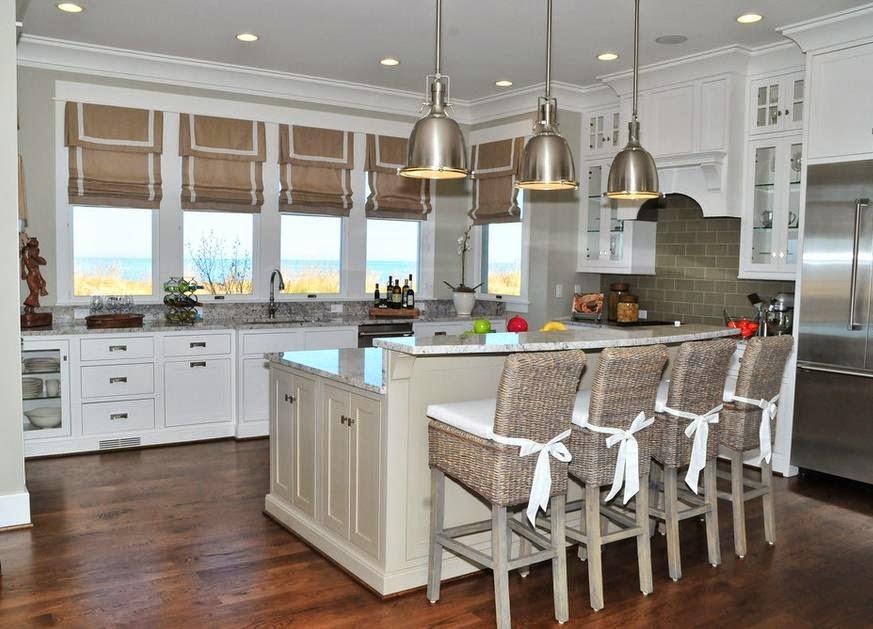 Modelos de cortinas de meson de cocina for Altura de meson de cocina
