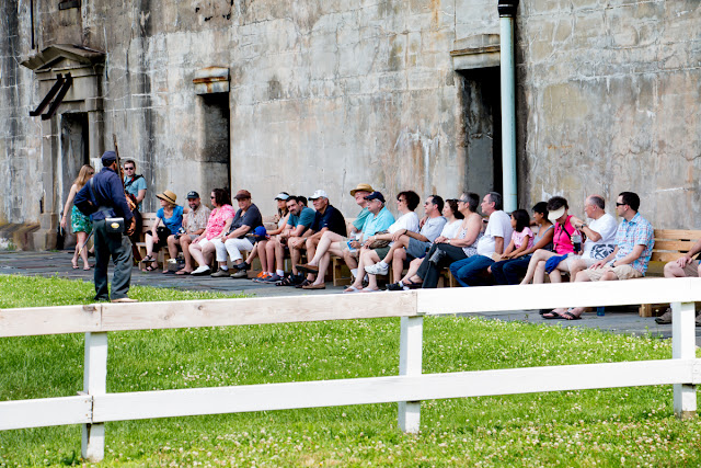 Reenactors at Fort Delaware