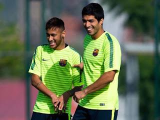 Neymar dan Luis Suarez