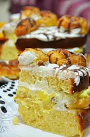 کیک نون خامه ای Cake Boss