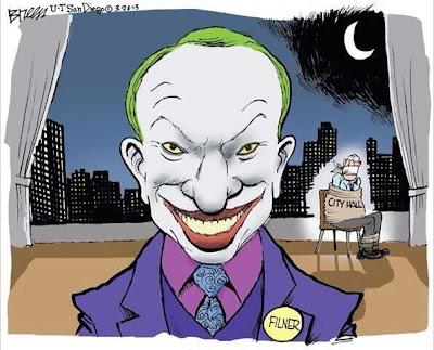 Bob Filner Joker Face