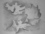 Autumn Leaves Drawing in Pencil and Charcoal