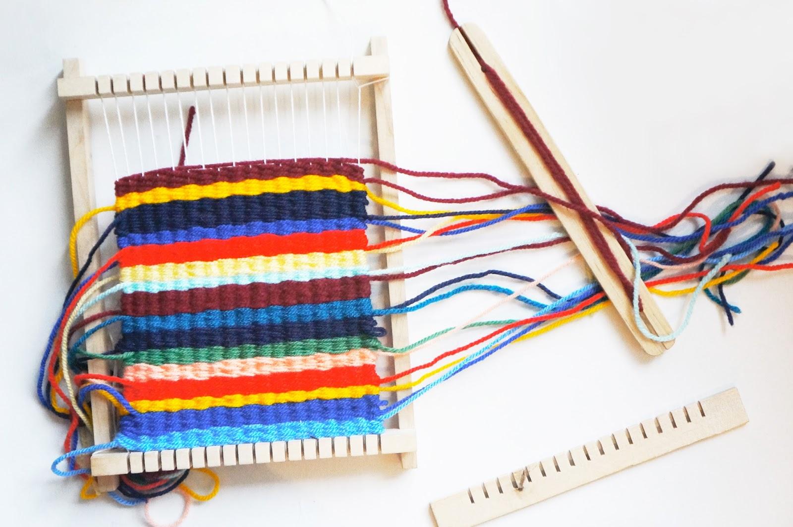 basteln malen Kuchen backen: Taschen weben und typisch für meine Farben